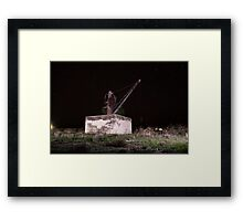 old crane Framed Print