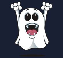 Cartoon Ghost - With Fangs! Baby Tee