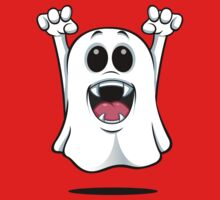 Cartoon Ghost - With Fangs! One Piece - Short Sleeve