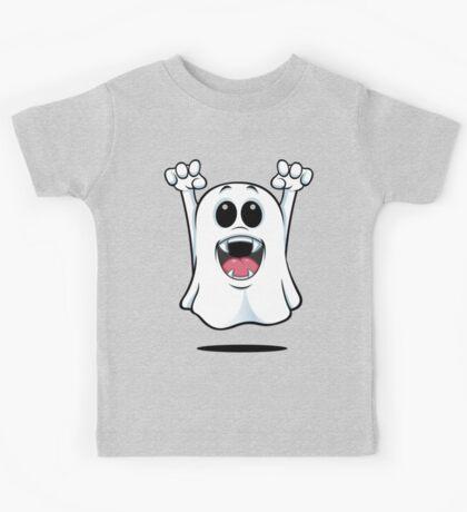 Cartoon Ghost - With Fangs! Kids Tee