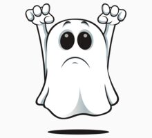 Cartoon Ghost - Sad Kids Clothes