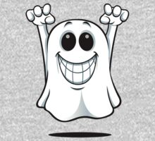 Cartoon Ghost - With A Big Smile. One Piece - Long Sleeve
