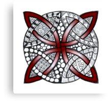 Red Celtic Knot Doodle Canvas Print