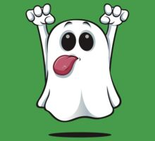 Cartoon Ghost - Sticking His Tongue Out. Kids Tee