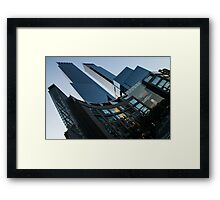 New York Curves and Skyscrapers Framed Print