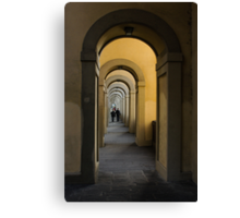 In a Distance - Vasari Corridor in Florence, Italy  Canvas Print