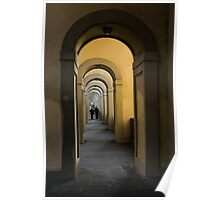 In a Distance - Vasari Corridor in Florence, Italy  Poster