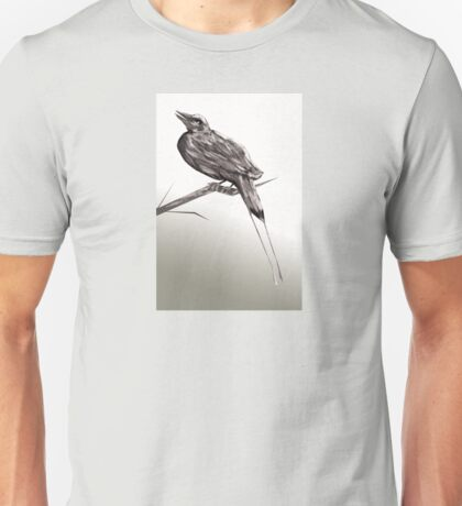 Long tailed blue bird 2 Unisex T-Shirt