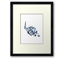 Statue of Liberty Holding Scales Justice Sword Framed Print