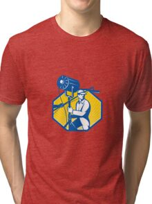Electrical Lighting Technician Crew Spotlight Tri-blend T-Shirt