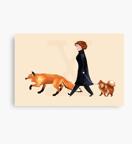 Fox & Dana Canvas Print