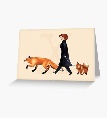 Fox & Dana Greeting Card