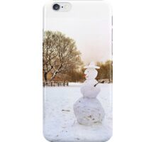 Landscape with Snowman iPhone Case/Skin