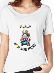 O.A.P - OLD AGE PUNK (Mobility Scooter) Women's Relaxed Fit T-Shirt