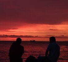 godly sunset II - puesta del sol divina by Bernhard Matejka