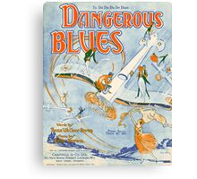 DANGEROUS BLUES (vintage illustration) Canvas Print