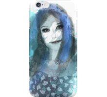 Girl in Blue iPhone Case/Skin