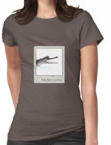 Fresh Water Crocodile Polaroid Womens Fitted T-Shirt