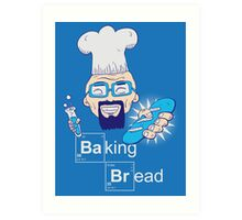 Baking Bread Art Print