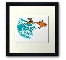 Goldfish Illustration Print Framed Print