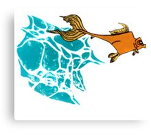 Goldfish Illustration Print Canvas Print
