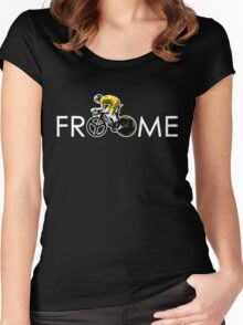 Chris Froome Tour de France 100th Winner 2013 Women's Fitted Scoop T-Shirt