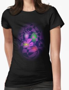 Colorful Eggs in a Basket Womens Fitted T-Shirt