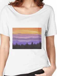 Canadian Mountains Women's Relaxed Fit T-Shirt