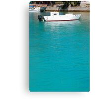 Lone caribbean fishing boat Canvas Print
