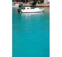 Lone caribbean fishing boat Photographic Print