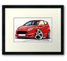 Ford Fiesta (Mk7) ST Red Framed Print