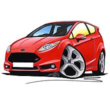 Ford Fiesta (Mk7) ST Red Photographic Print