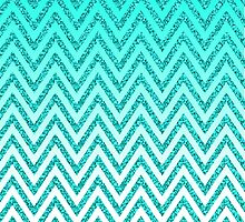 Glittery Chevron by geekgal212