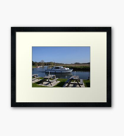 Norfolk Broads Cruiser Framed Print
