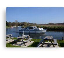 Norfolk Broads Cruiser Canvas Print