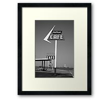 Route 66 - MidPoint Cafe Framed Print