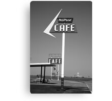 Route 66 - MidPoint Cafe Canvas Print