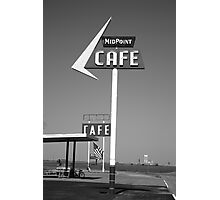 Route 66 - MidPoint Cafe Photographic Print