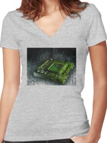 No No Gadget Women's Fitted V-Neck T-Shirt