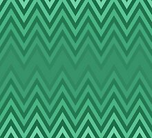 Green Chevron by geekgal212
