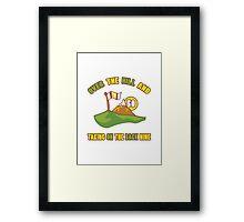 Funny 50th Birthday Golf Gift Framed Print