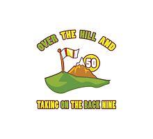Funny 50th Birthday Golf Gift Photographic Print
