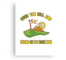 Funny 70th Birthday Golf Gift Canvas Print