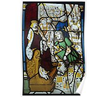 Stained Glass, Burrell Collection 6, King David & Messenger Poster