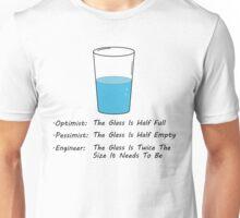 Optimist Pessimist Engineer Unisex T-Shirt