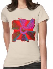 0004 Abstract Design Womens Fitted T-Shirt