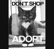 DONT SHOP. ADOPT. - BLACK & WHITE Unisex T-Shirt