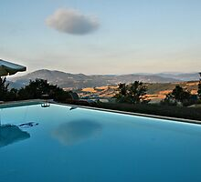 Evening Dip-Umbria, Italy by Deborah Downes