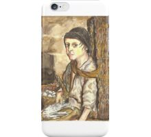 Postcard from Europe - Porter with basket, eggs and poultry iPhone Case/Skin
