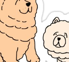 Chow Chow Dog Couple Sticker